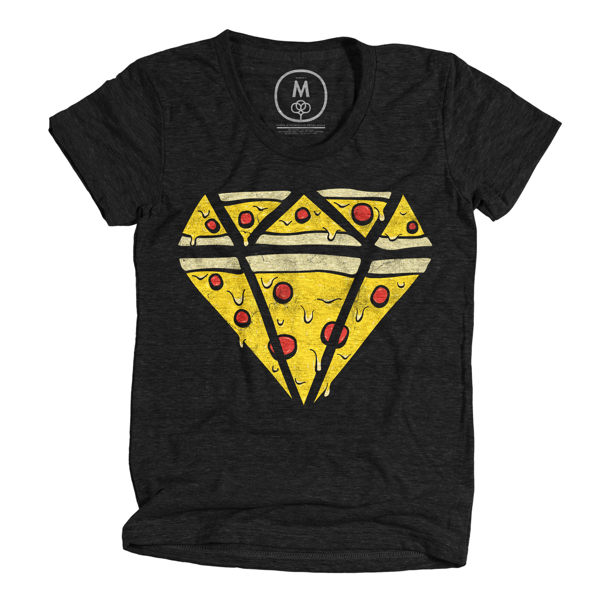 Pizzas Are Forever Vintage Black (Women's)