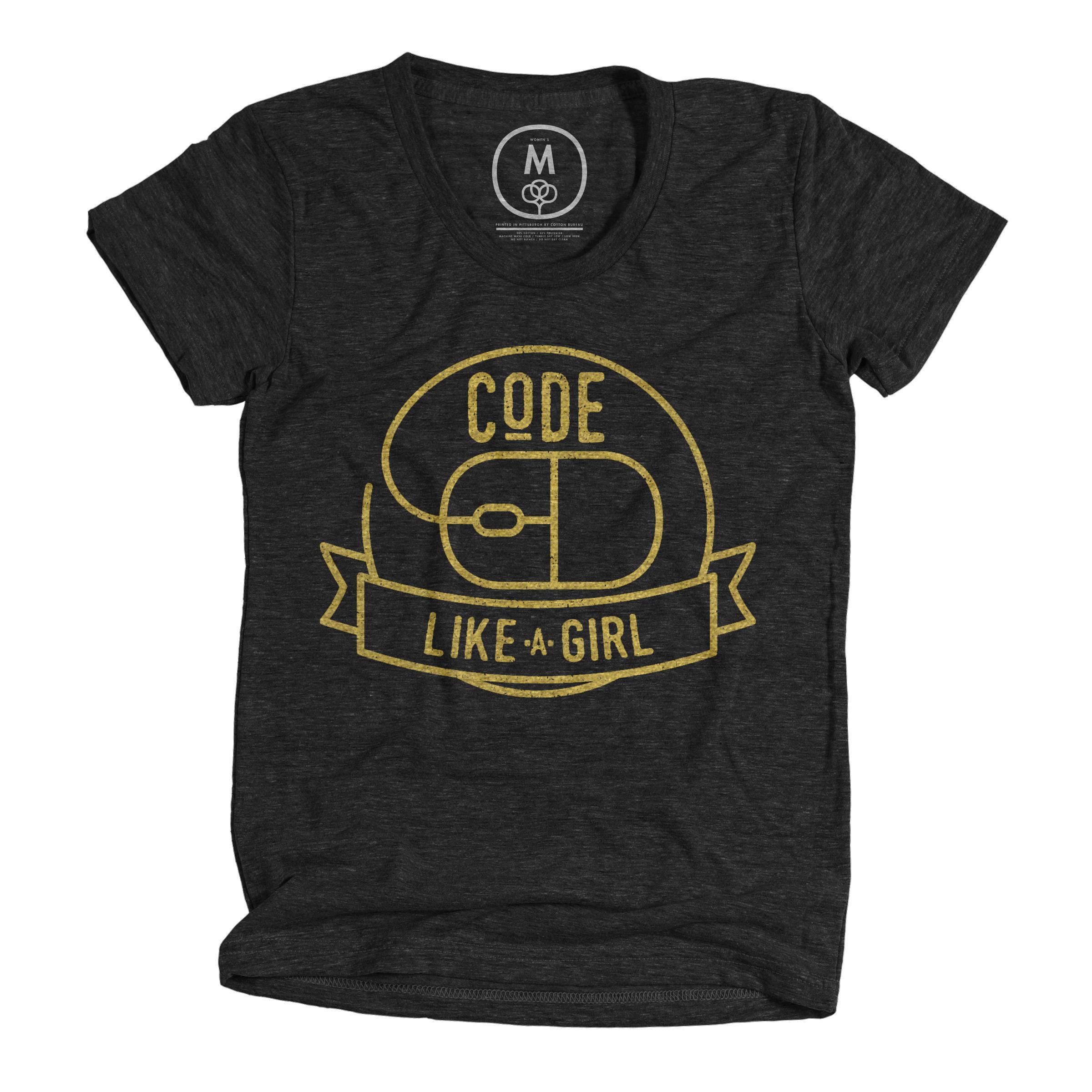 Code Like A Girl Vintage Black (Women's)