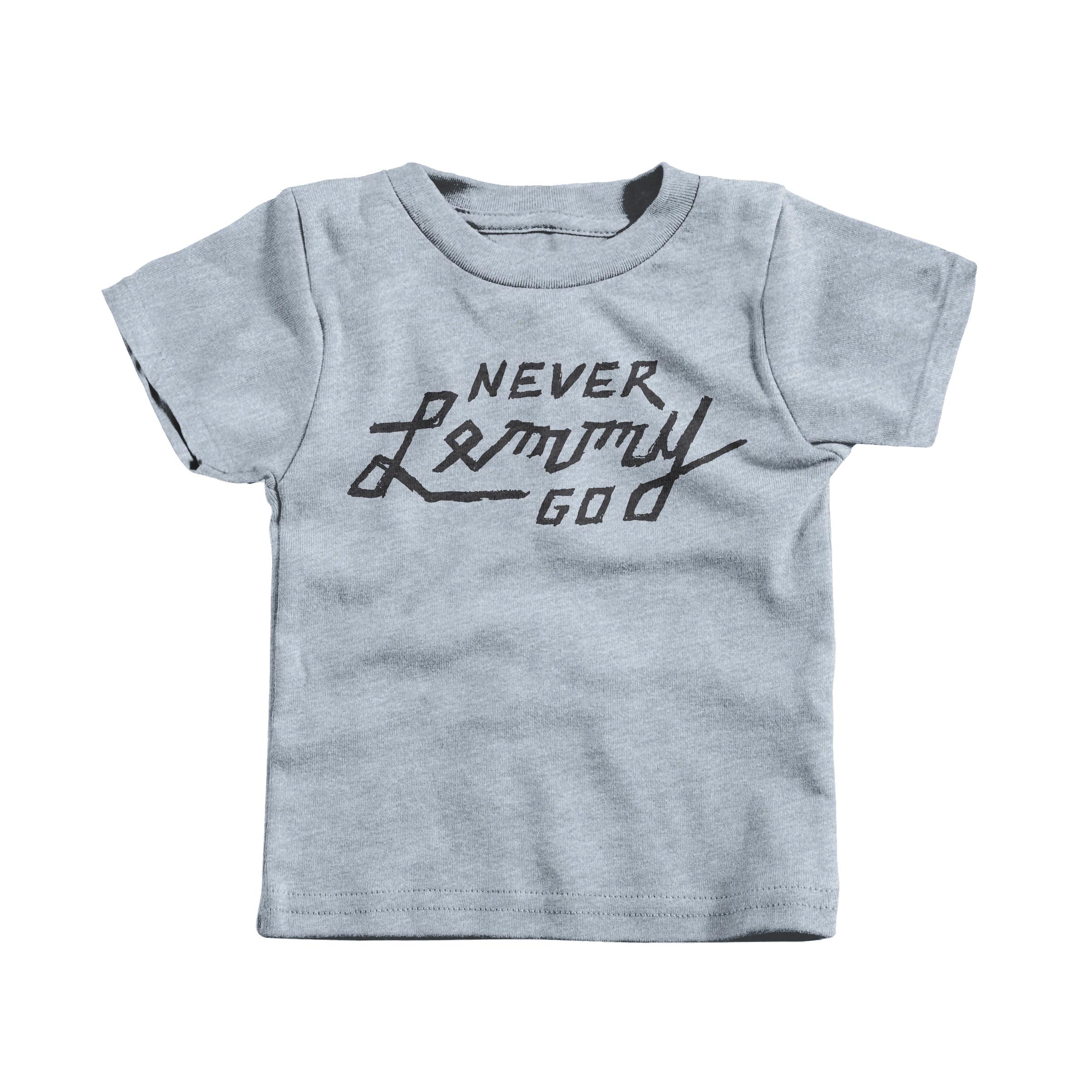 NEVER LEMMY GO Heather Grey (T-Shirt)