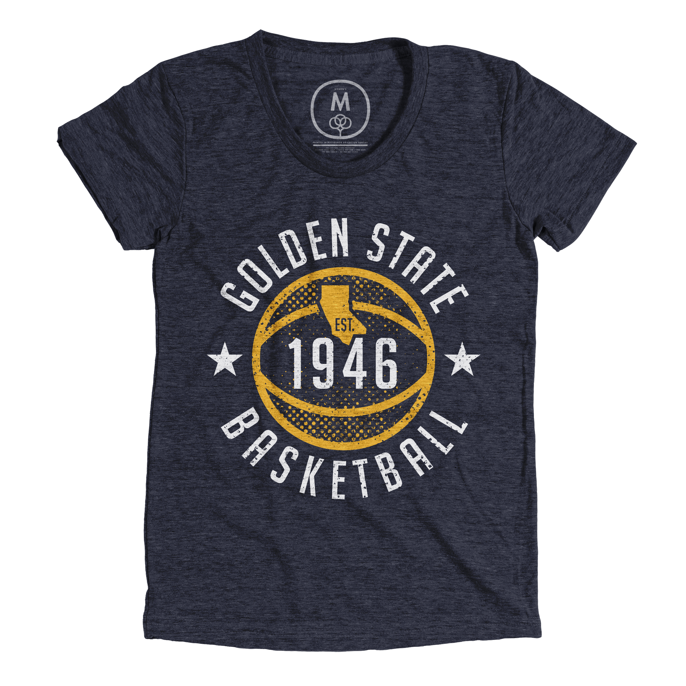Golden State Basketball Vintage Navy (Women's)