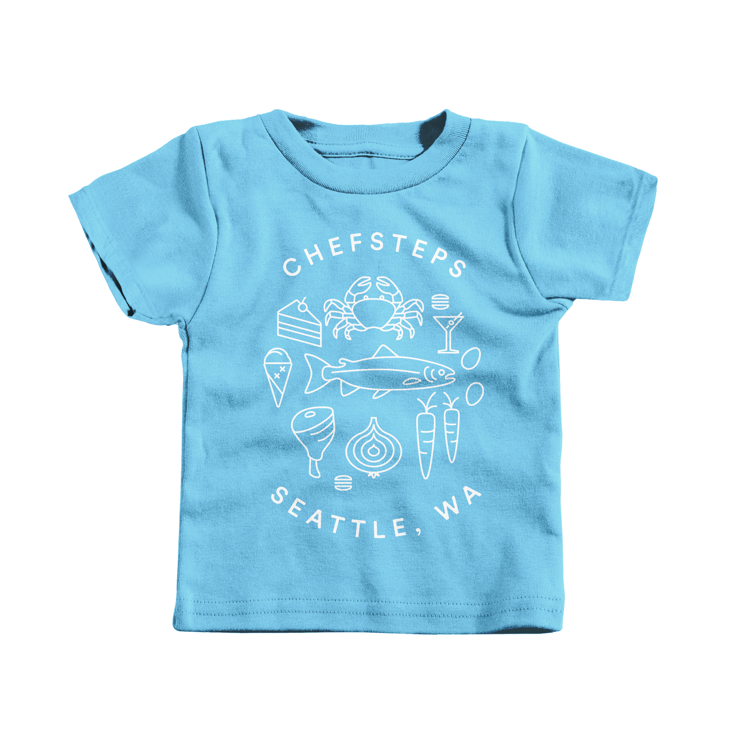 ChefSteps Coat of Arms Light Blue (T-Shirt)