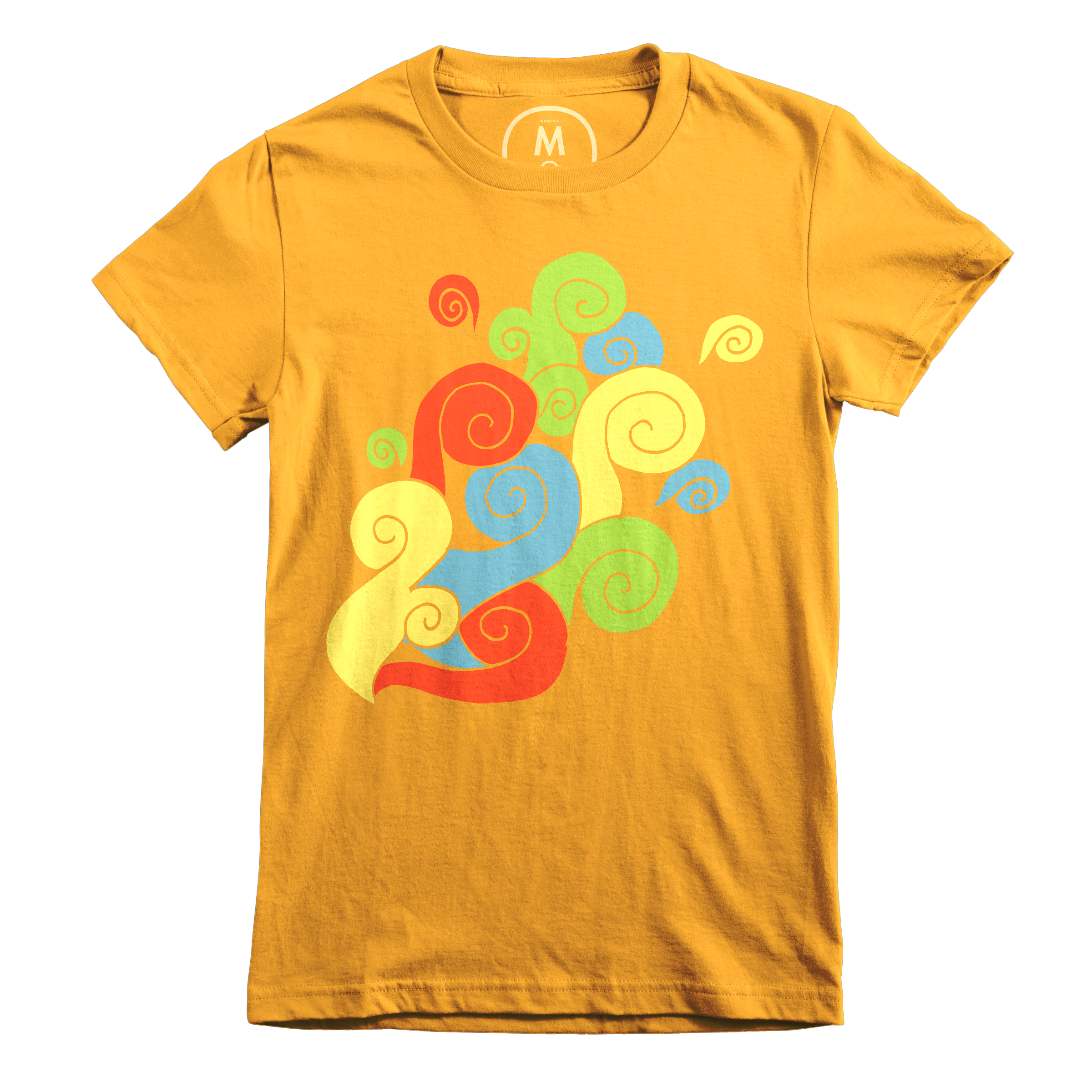 Bright Color Swirls Gold (Women's)
