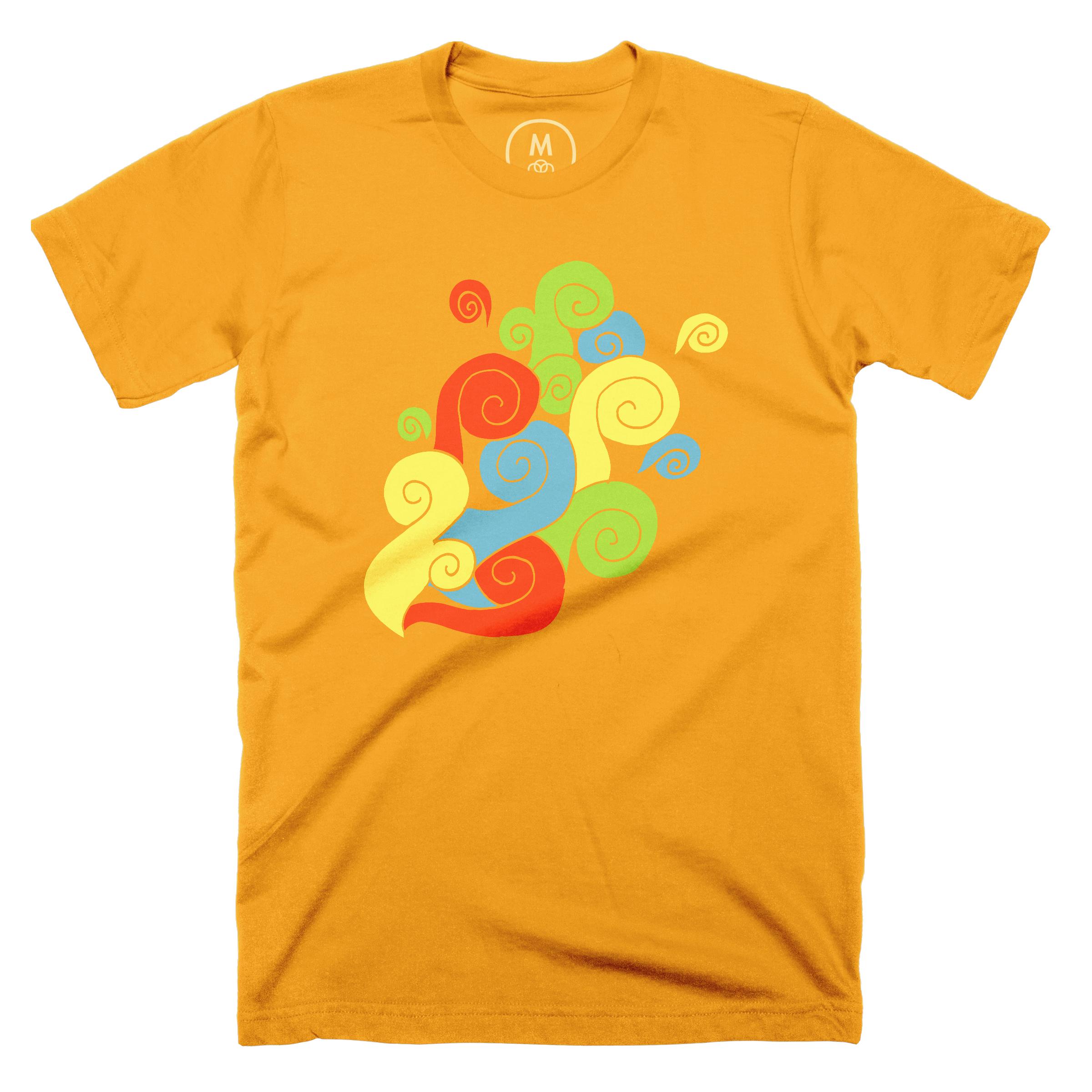 Bright Color Swirls Gold (Men's)