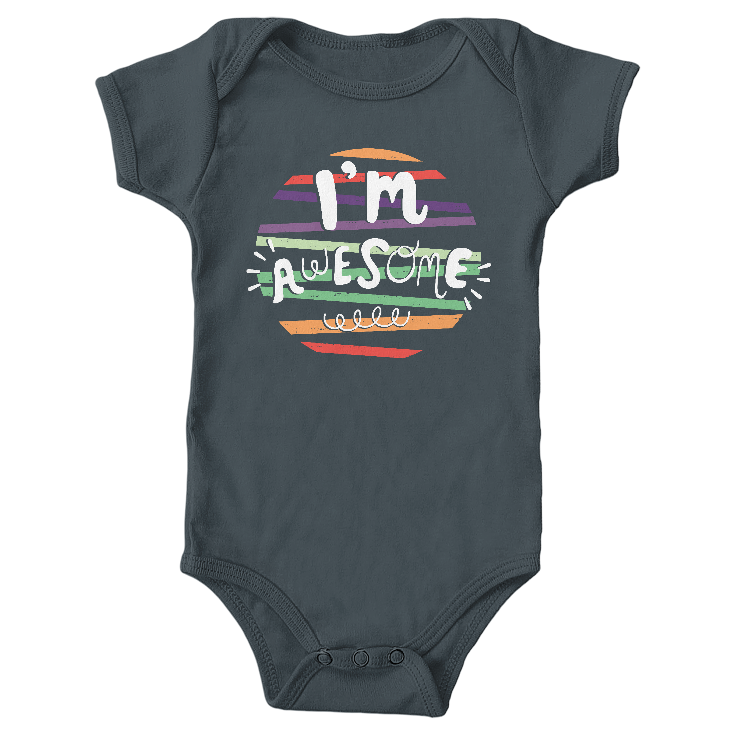 I'm Awesome! Charcoal (Onesie)