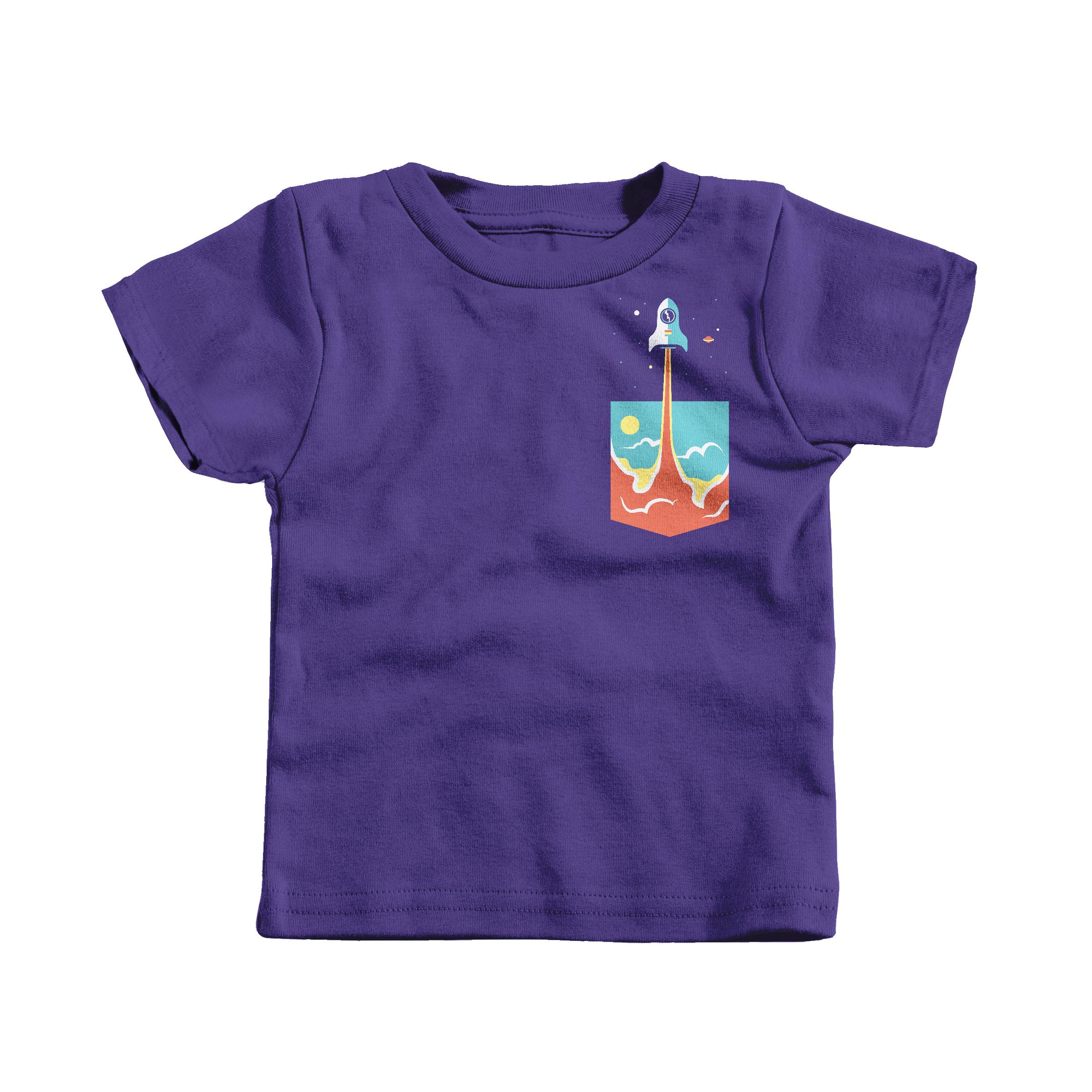 Pocket Rocket Purple (T-Shirt)
