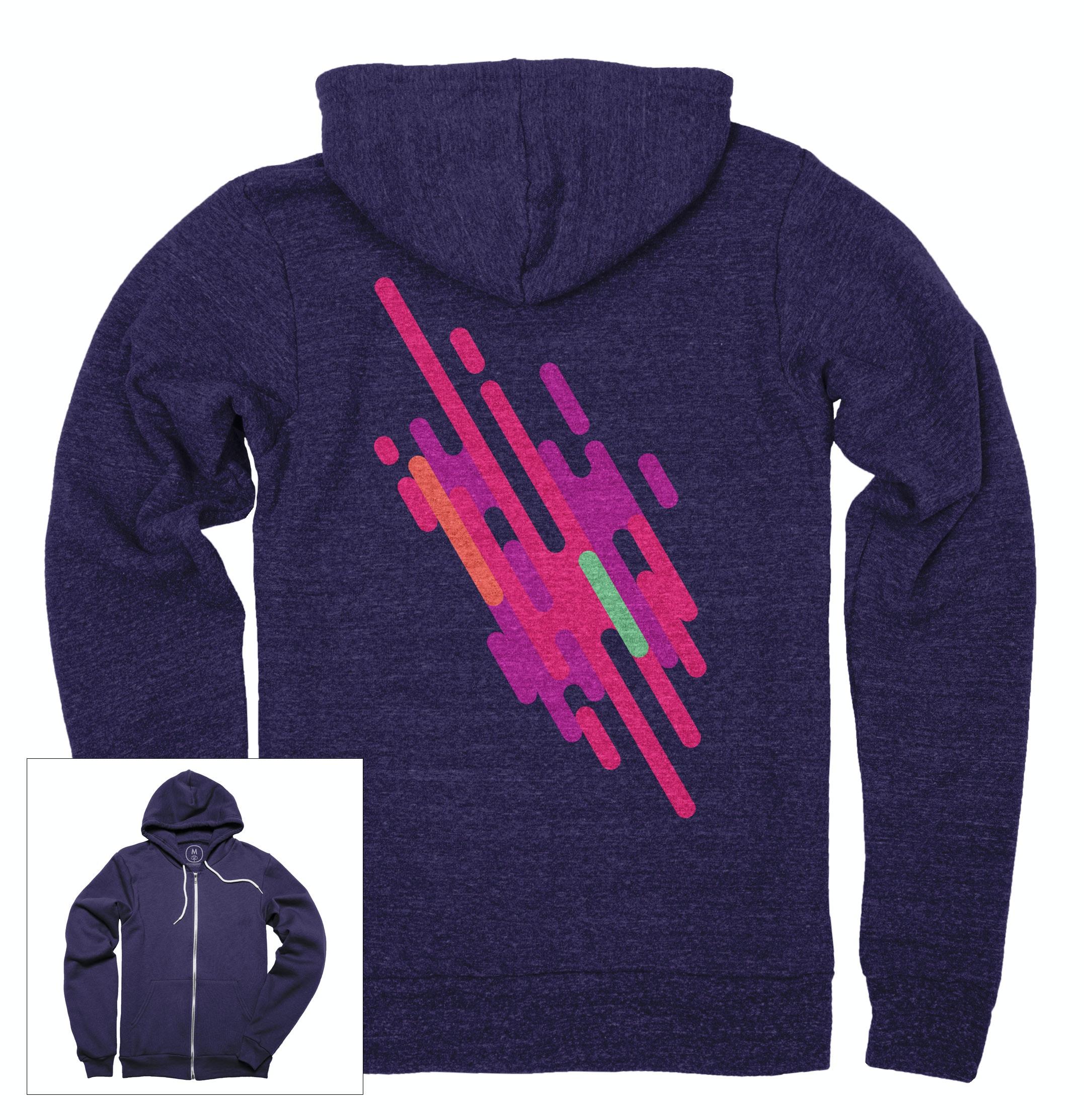 Purple Rain Zip Hoodie