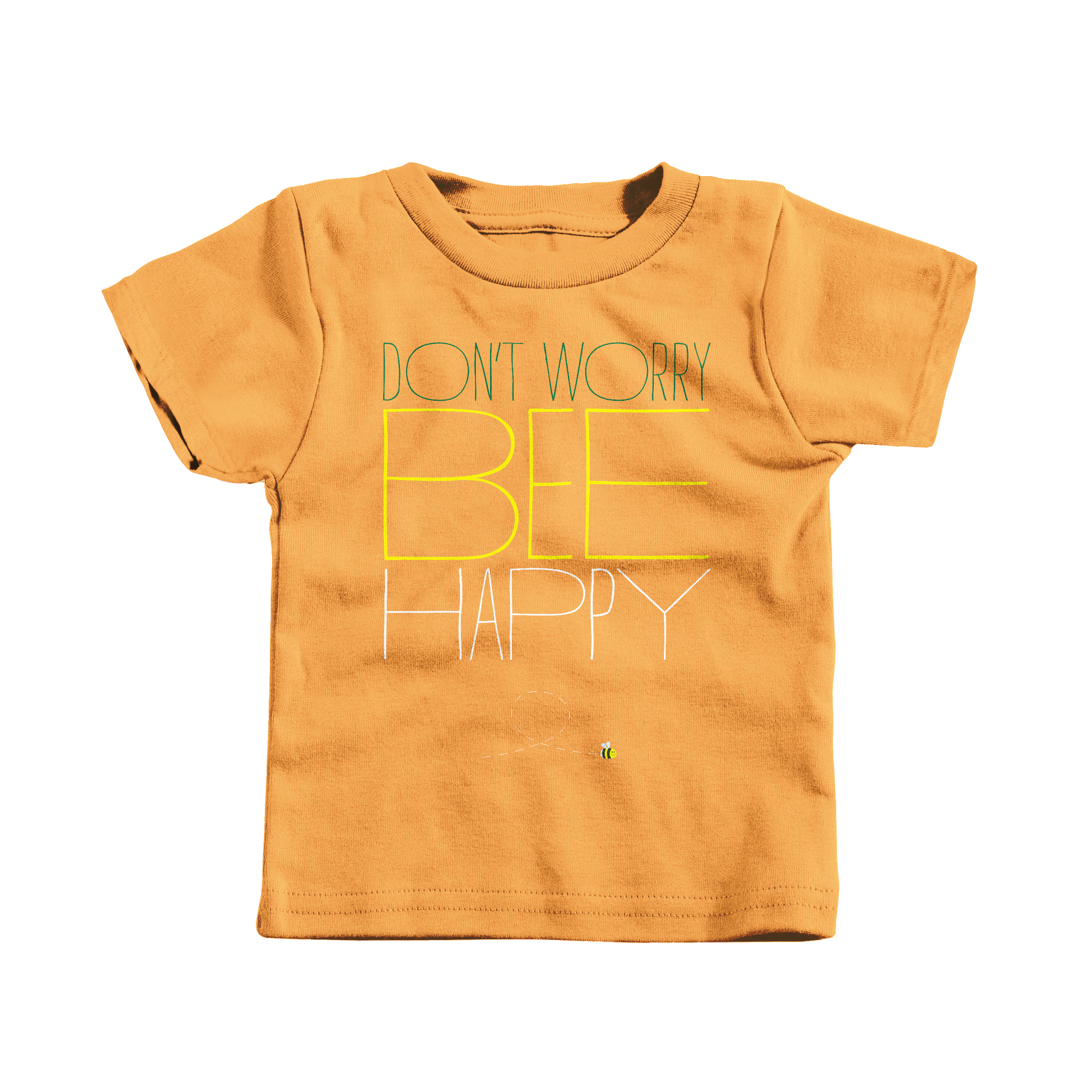 Don't Worry, Bee Happy Gold (T-Shirt)