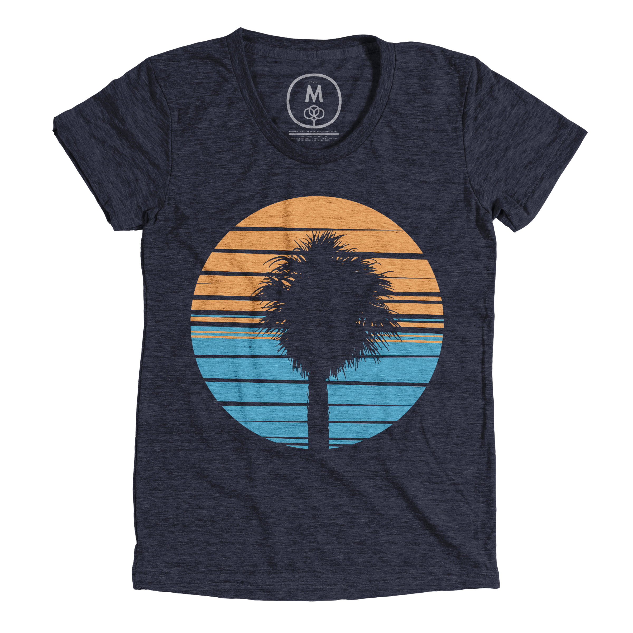 Palm Tee Vintage Navy (Women's)